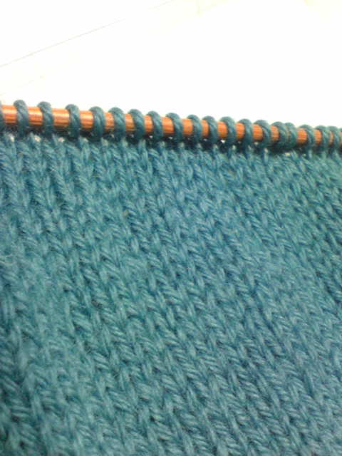 編み進みの引き返し編み